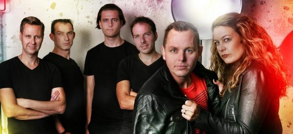Bandje voor de sfeer Totaal shoot van de band